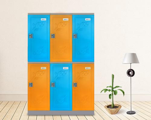 世纪联合二层塑料更衣柜