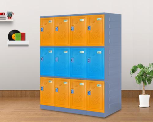 世纪联合三层塑料更衣柜